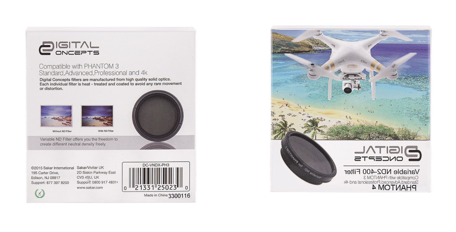 VARIABLE ND Filter (ND2-ND400) FOR PHANTOM 3/4
